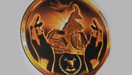Logo du Cinquantenaire de la Réunification.Image Cameroun-online